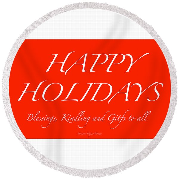 Happy Holidays - Day 1 Round Beach Towel