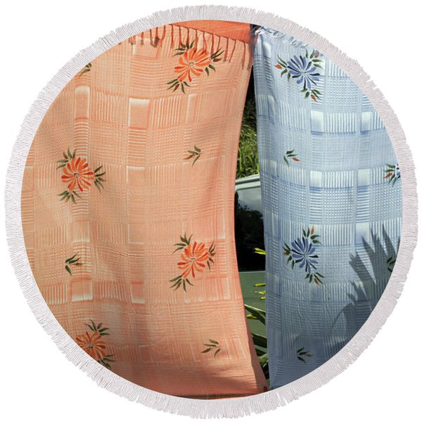 Hawaii Drying  Round Beach Towel