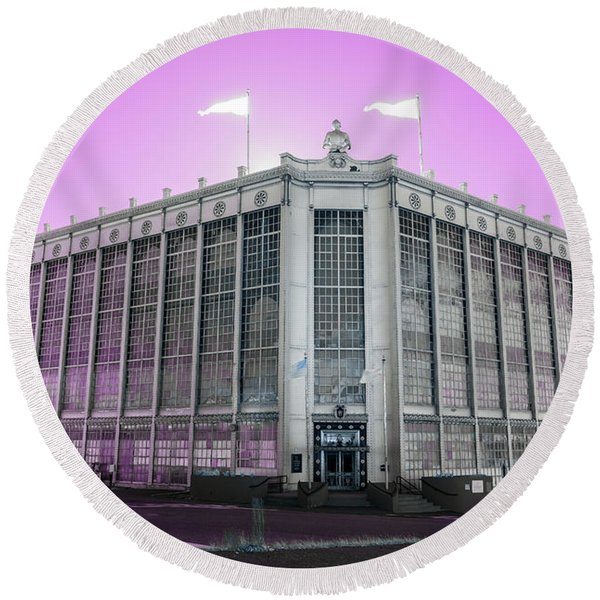 Higgins Armory In Infrared Round Beach Towel
