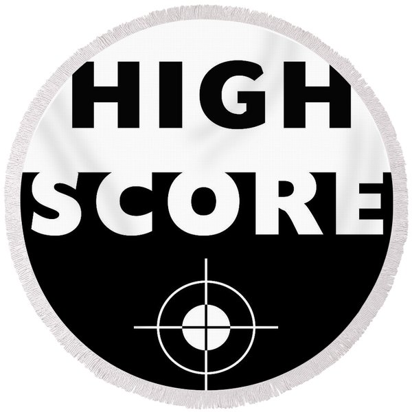 High Score- Art By Linda Woods Round Beach Towel