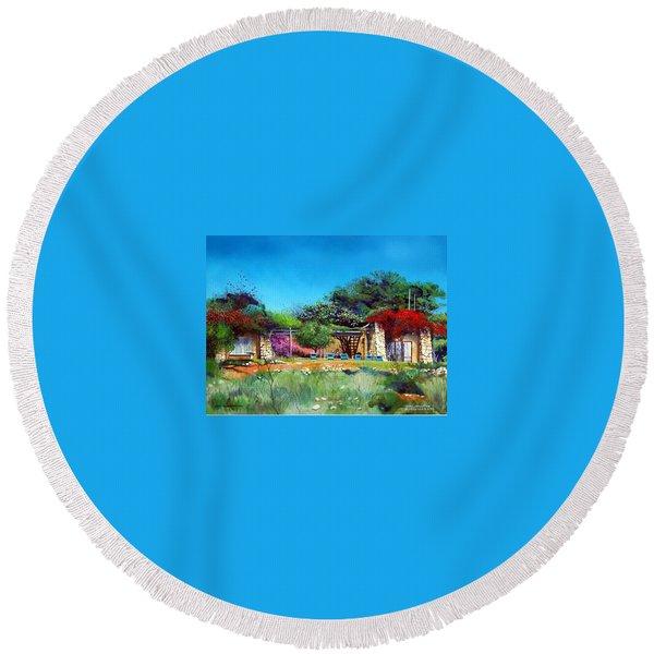 Highveld House Round Beach Towel