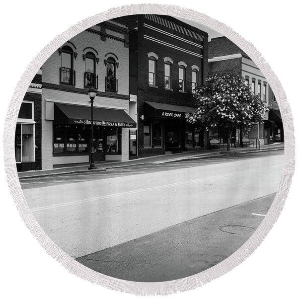 Historic Buford Downtown Area Round Beach Towel