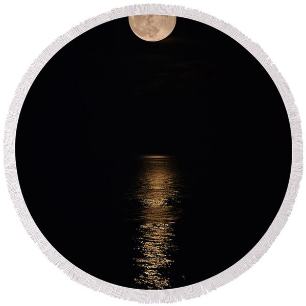 Holiday Magic - Lunar Art Round Beach Towel