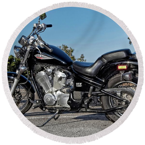 Honda Shadow Round Beach Towel