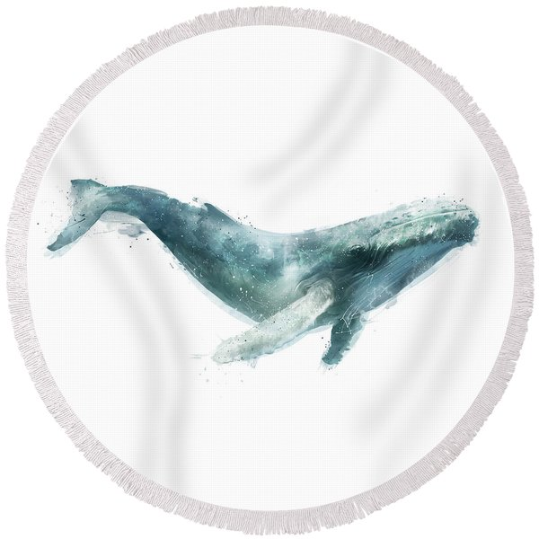 Humpback Whale Round Beach Towel