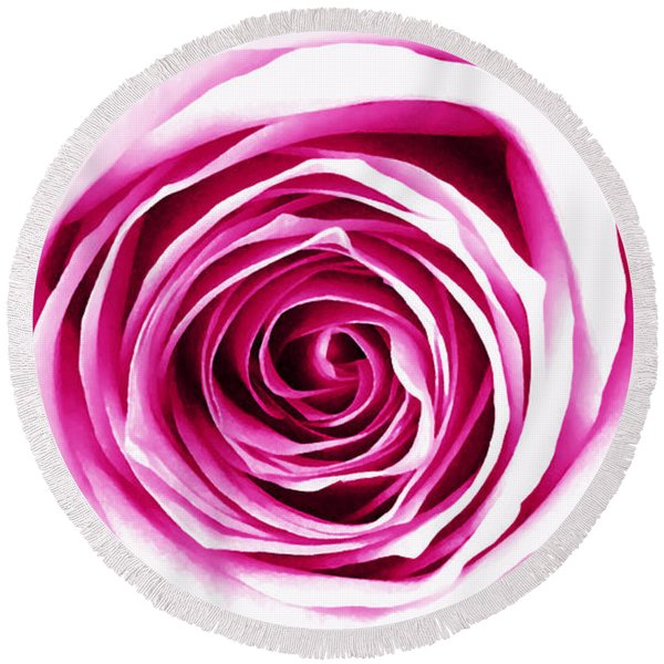 Hypnotic Pink Round Beach Towel