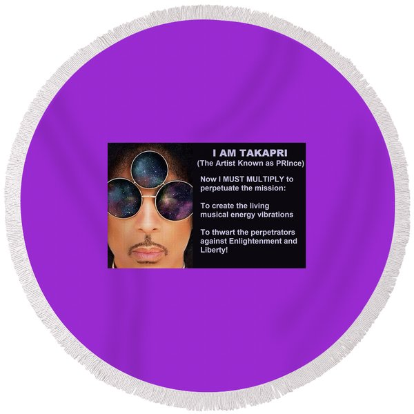 I Am Takapri Round Beach Towel