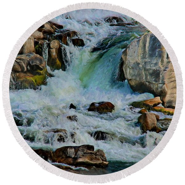 Idaho Falls Round Beach Towel