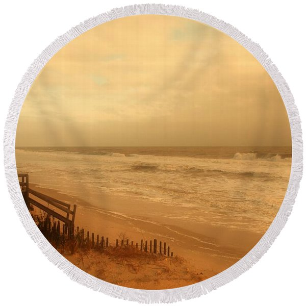 In My Dreams The Ocean Sings - Jersey Shore Round Beach Towel
