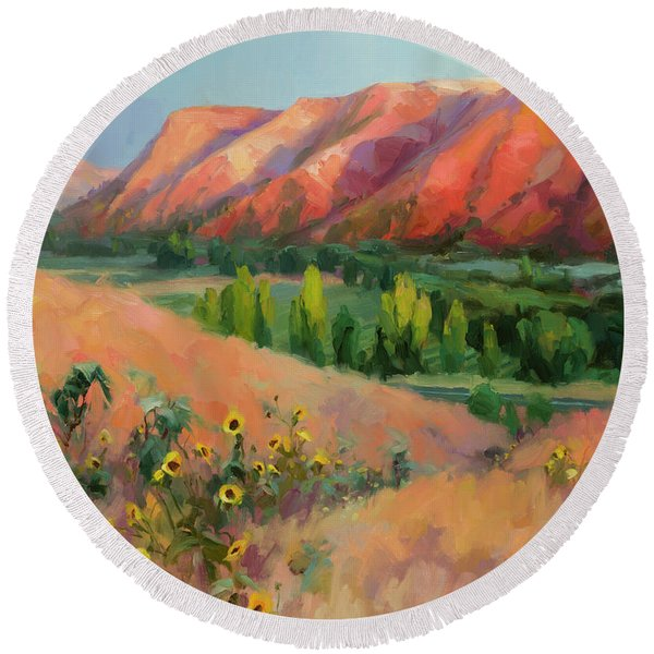 Indian Hill Round Beach Towel