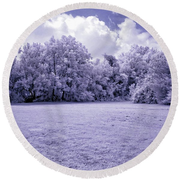 Infrared In Glasgow Ky Round Beach Towel