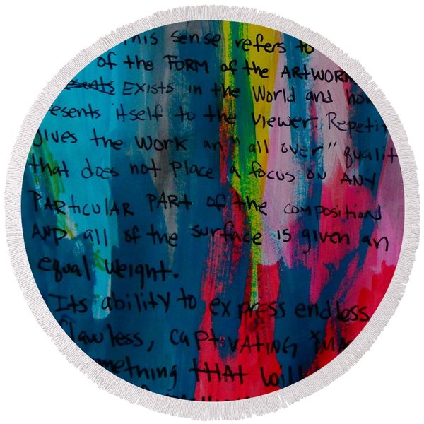 Inspiration From Warhol Round Beach Towel