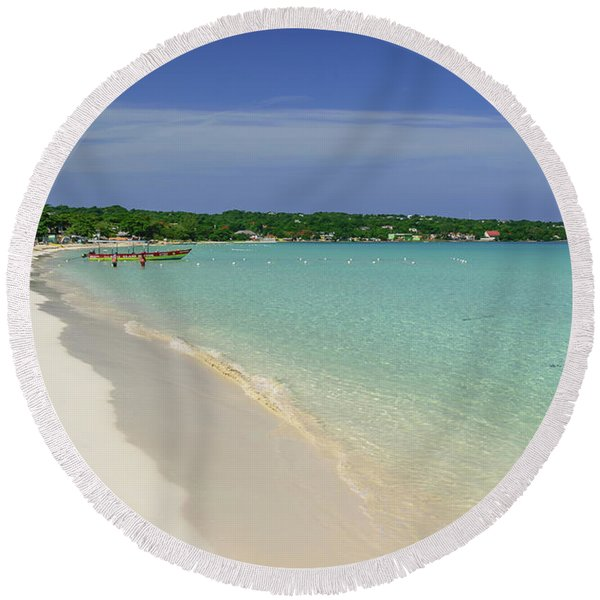 Seven Mile Beach, Negril Round Beach Towel
