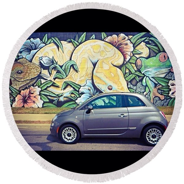 Is It Safe To Drive Mr. #fiat Into The Round Beach Towel