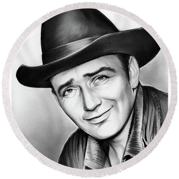 James Drury Round Beach Towel