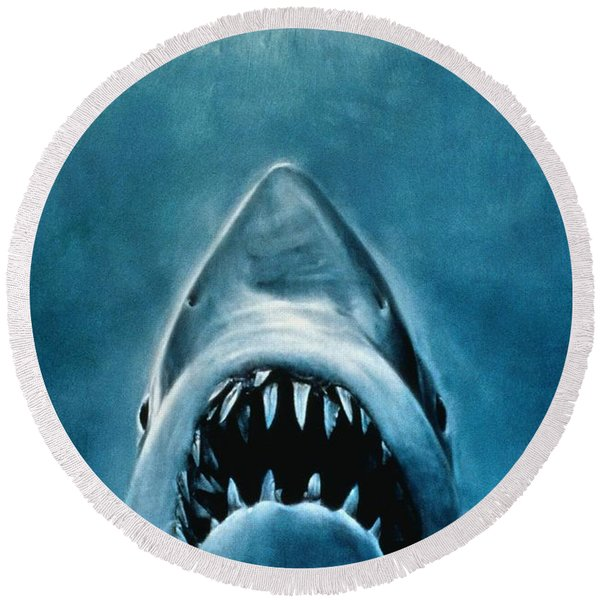 Jaws Round Beach Towel