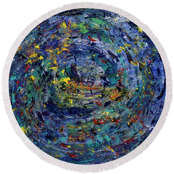 Journey Into You Round Beach Towel