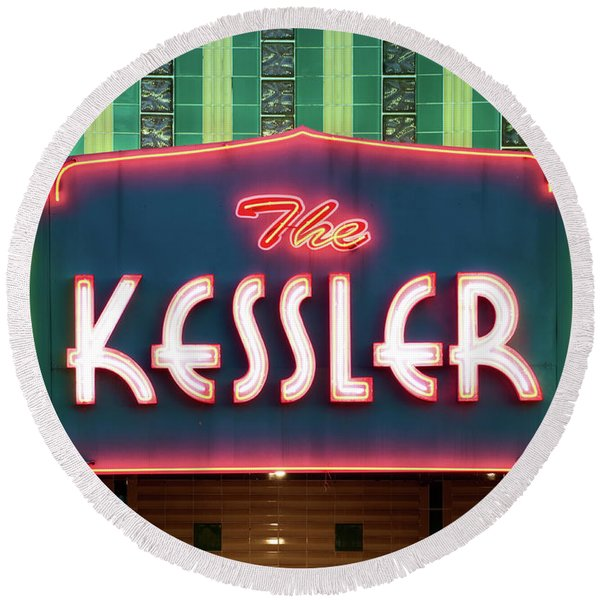 Kessler Theater 042817 Round Beach Towel