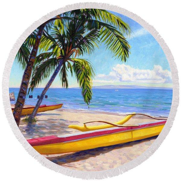 Kihei Canoe Club Round Beach Towel
