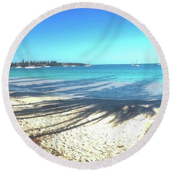 Kuto Bay Morning Round Beach Towel