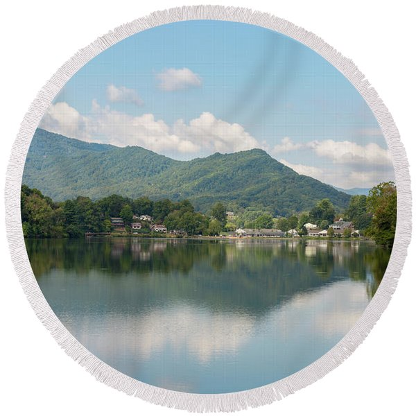 Lake Junaluska #1 - September 9 2016 Round Beach Towel