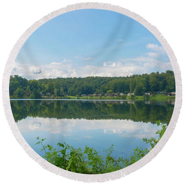 Lake Junaluska #3 September 9 2016 Round Beach Towel