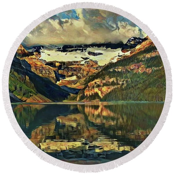 Lake Louise Round Beach Towel