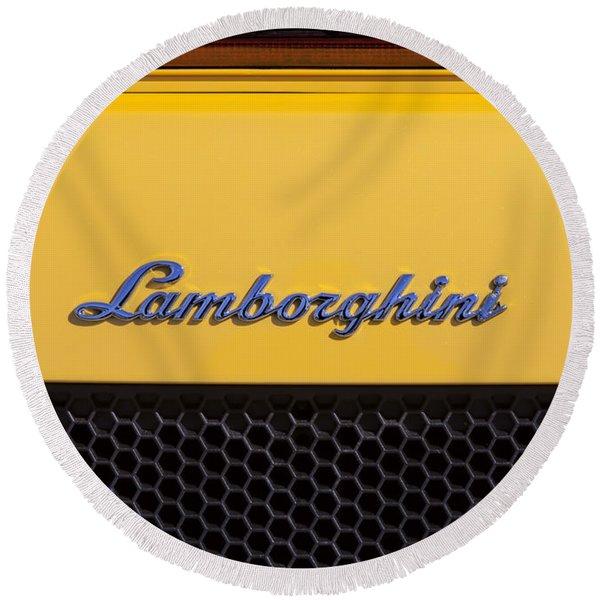 Lamborghini Round Beach Towel