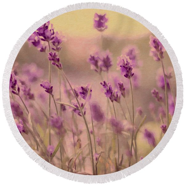 Lavender Dreaming ... Round Beach Towel