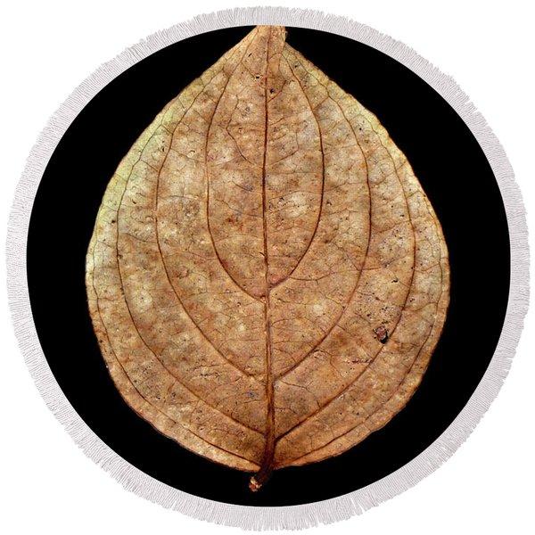 Leaf 12 Round Beach Towel
