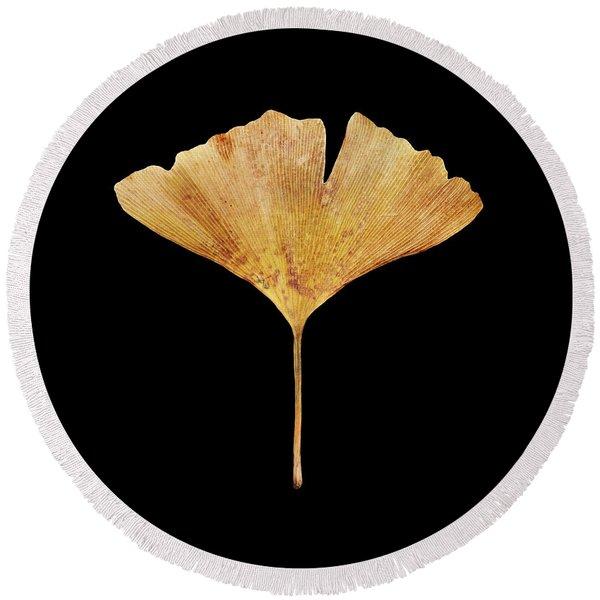 Leaf 18 Round Beach Towel