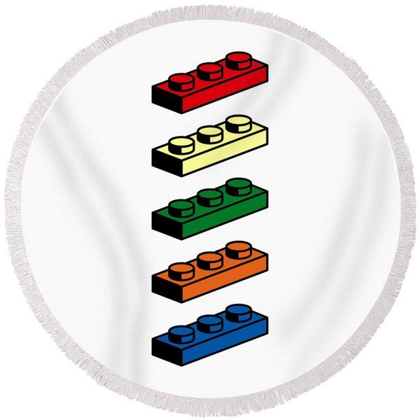 Lego T-shirt Pop Art Round Beach Towel