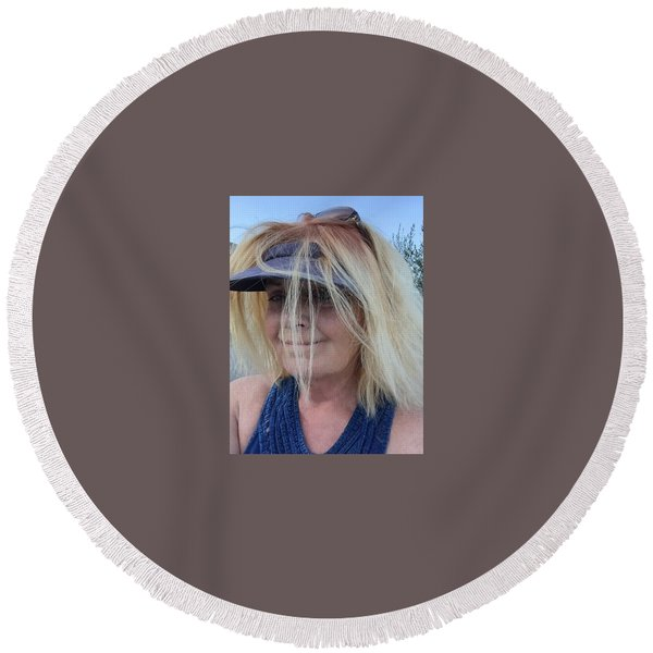 Round Beach Towel featuring the photograph Life Joy August 2016 by Colette V Hera Guggenheim