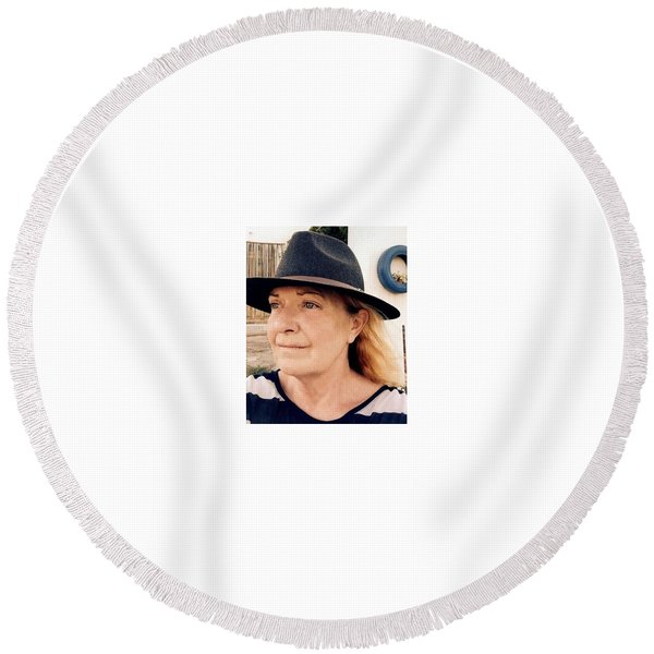 Round Beach Towel featuring the photograph Life Vision Almeria Spain by Colette V Hera Guggenheim
