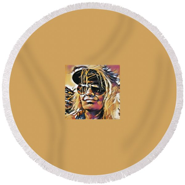 Round Beach Towel featuring the photograph Life Vision Spain  by Colette V Hera Guggenheim