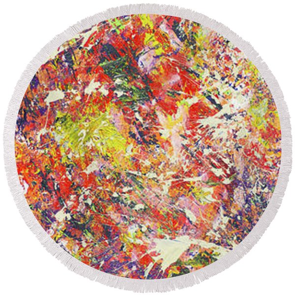 Light Of Summer Round Beach Towel