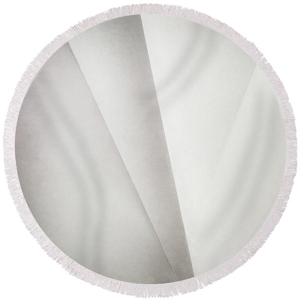 Lines On Paper Round Beach Towel
