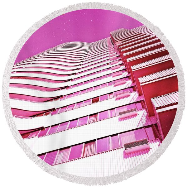 Living Pink Round Beach Towel