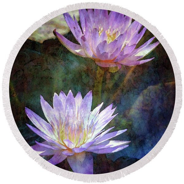 Lotus Reflections 2980 Idp_2 Round Beach Towel