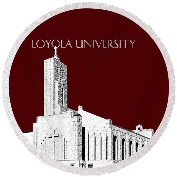 Loyola University Version 1 Round Beach Towel