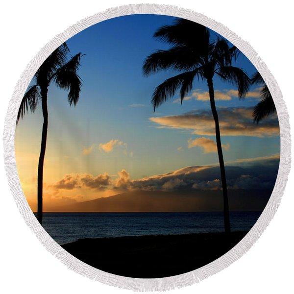 Mai Ka Aina Mai Ke Kai Kaanapali Maui Hawaii Round Beach Towel
