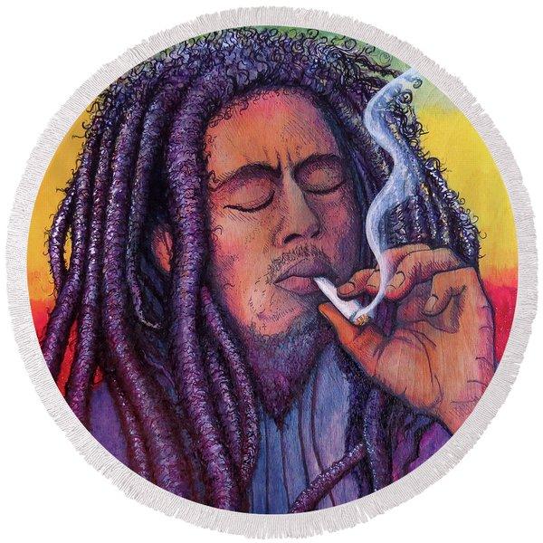 Marley Smoking Round Beach Towel