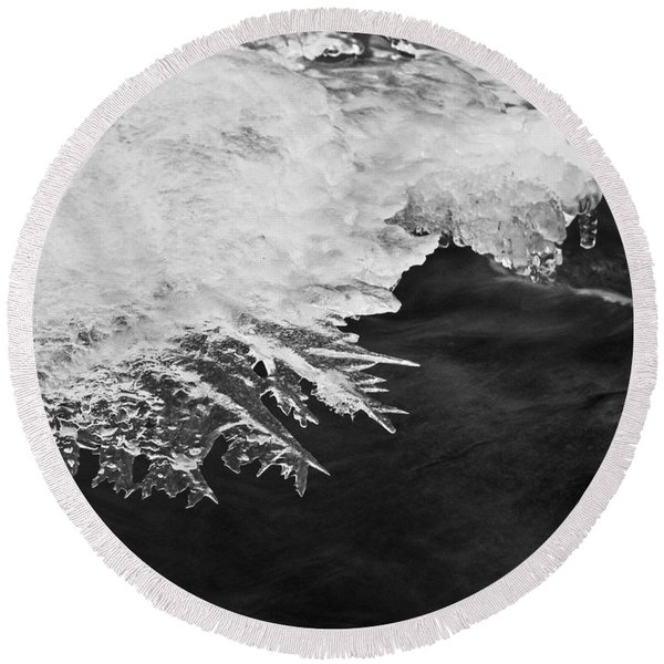 Melting Creek Round Beach Towel