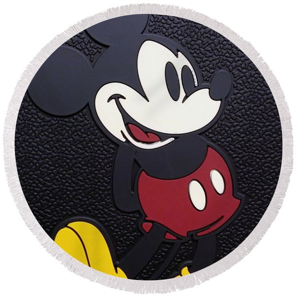 Mickey Mat Round Beach Towel