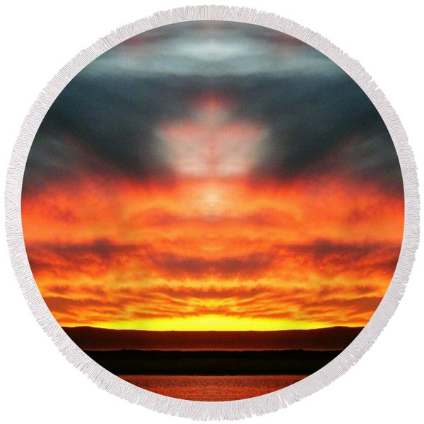 Sunset Dream Round Beach Towel