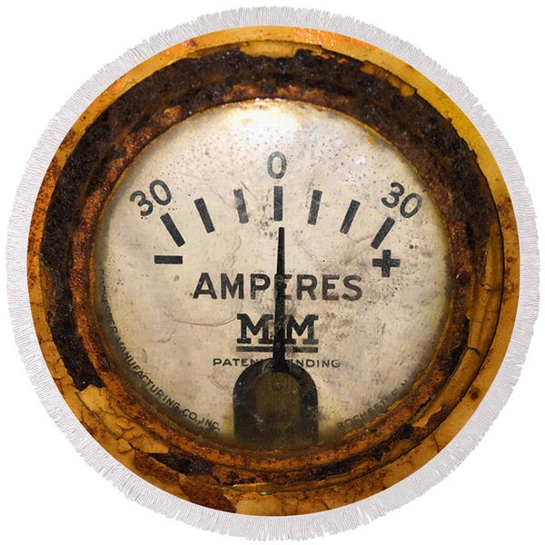 Mm Amperes Gauge Round Beach Towel