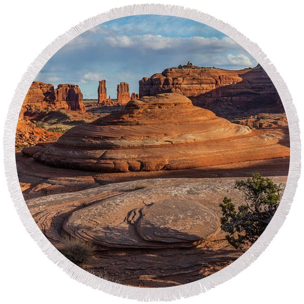 Moab Back Country Round Beach Towel