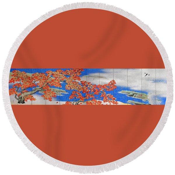 Momiji - Top Quality Image Edition Round Beach Towel
