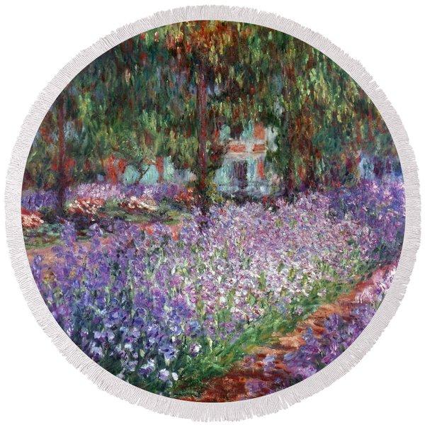 Monet: Giverny, 1900 Round Beach Towel