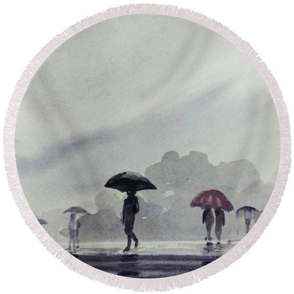 Monsoons Round Beach Towel